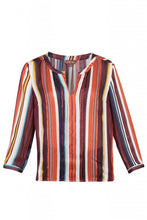 Load image into Gallery viewer, Striped Pleat Detail Blouse