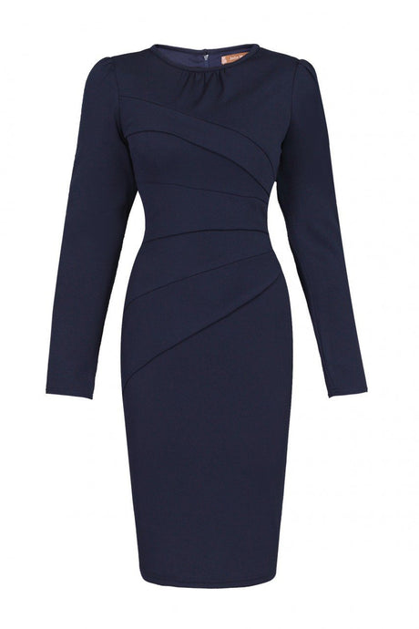 Asymmetric Folded Bodycon Dress