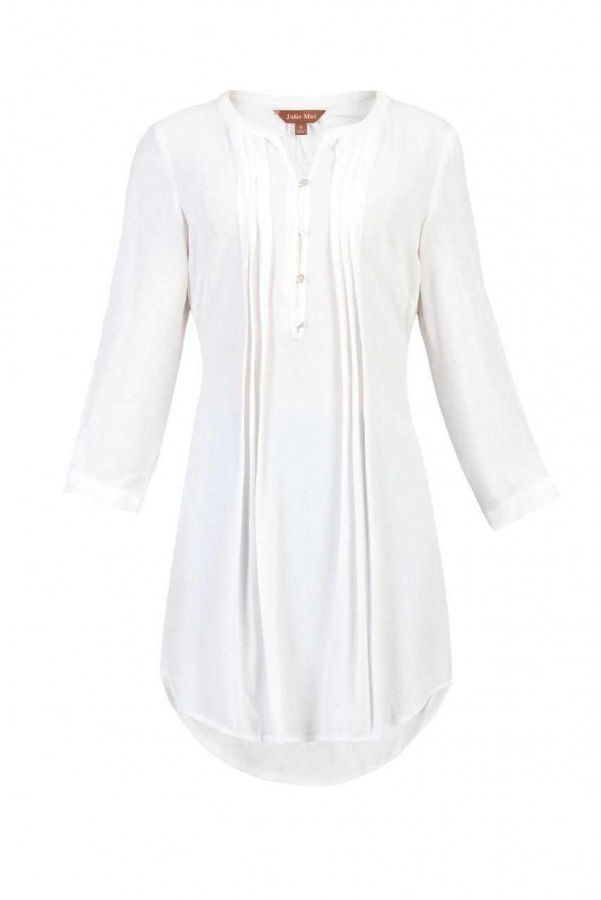 Button Front Pleated Tunic