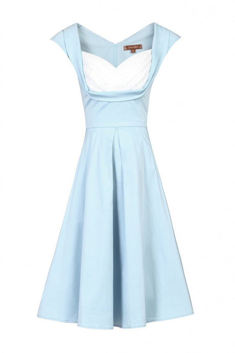 Jolie Moi Crossover Bust Ruched Prom Dress, Blue