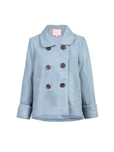 Peter-pan Collar Double Breasted Jacket