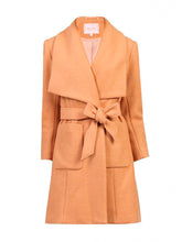 Load image into Gallery viewer, Jolie Moi Wool Blend Wrap Coat