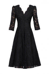 3/4 Sleeve Lace Swing Dress