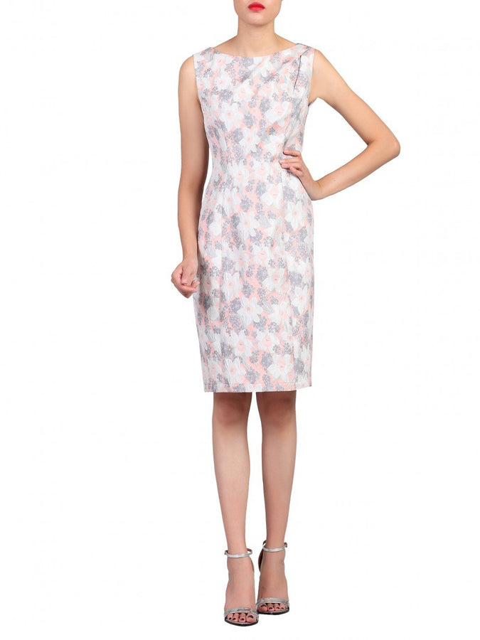 Jolie Moi Jacquard Shift Dress