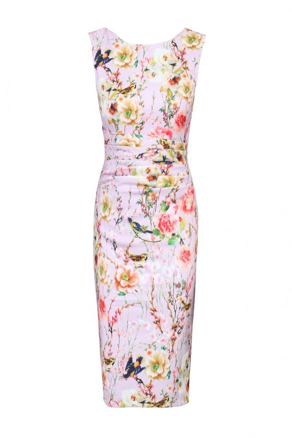 Floral Ruched Shift Dress