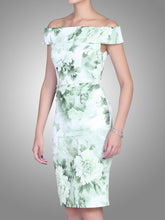Load image into Gallery viewer, Floral Bardot Neckline Dress