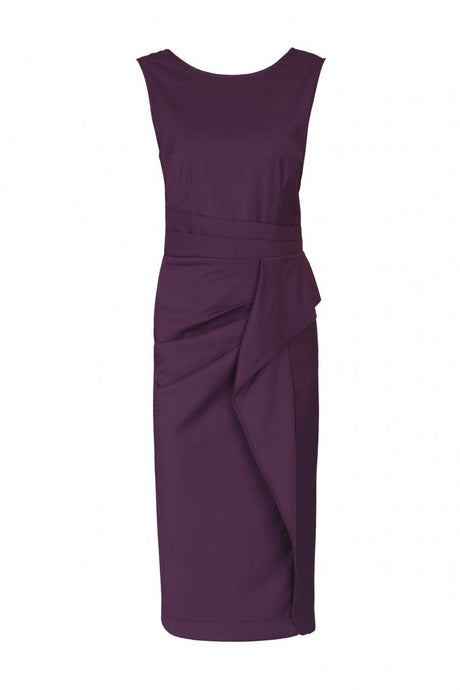Jolie Moi Ruched Shift Dress, Burgundy
