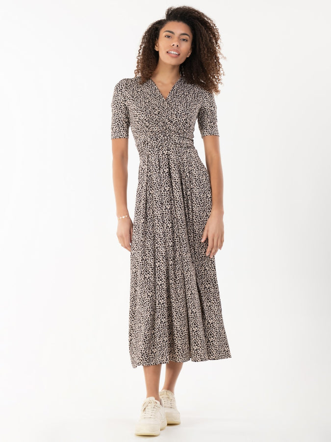 Jolie Moi Animal Print Jersey Maxi Dress, Neutral Animal