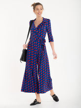 Load image into Gallery viewer, Jolie Moi Melissa Jumpsuit, Royal Polka
