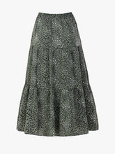 Load image into Gallery viewer, Jolie Moi Sara Animal Print Midi Skirt, Green Leopard