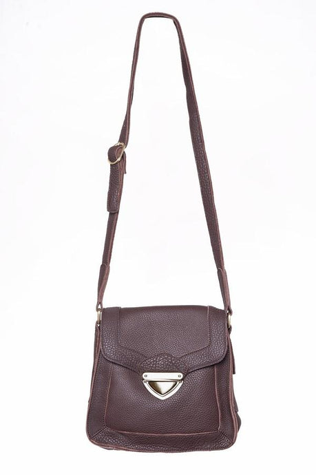 Jolie Moi Leather Shoulder Bag, Burgundy