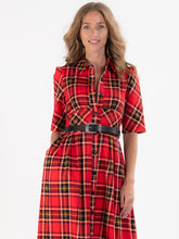 Load image into Gallery viewer, Checked Shirt Maxi Dress, Red Check