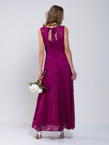 Lace Fit & Flare Maxi Bridesmaid Dress
