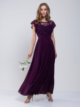 Load image into Gallery viewer, Crochet Lace Bodice Maxi Bridesmaid Dress