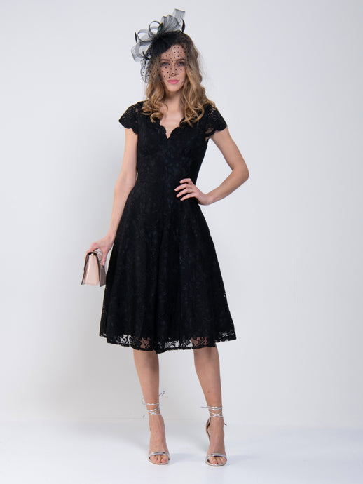Cap Sleeve Lace Prom Bridesmaid Dress