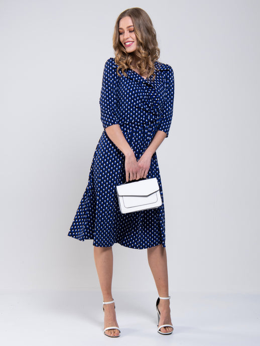 Jolie Moi Vintage Cross Front Tea Dress