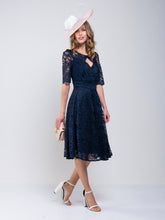 Load image into Gallery viewer, Fit And Flare Lace Midi Dress