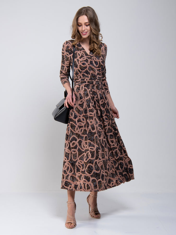 Print Cross Over Maxi Dress