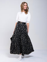 Load image into Gallery viewer, Tiered Print Maxi Skirt