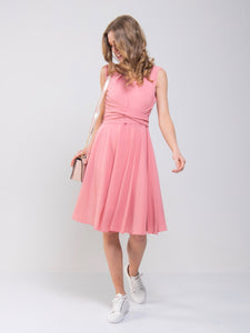 Wrap Belted Skater Dress