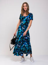 Load image into Gallery viewer, Cap Sleeve A-Line Maxi Jersey Dress