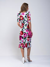 Load image into Gallery viewer, Jolie Moi Floral Tea Dress, Pink