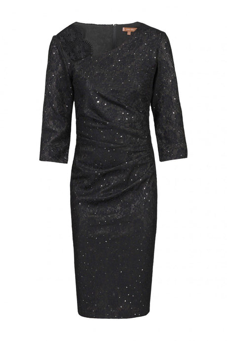 3/4 Sleeve Bonded Lace Dress