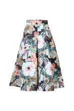 Load image into Gallery viewer, Floral Print 50s A-line Skirt