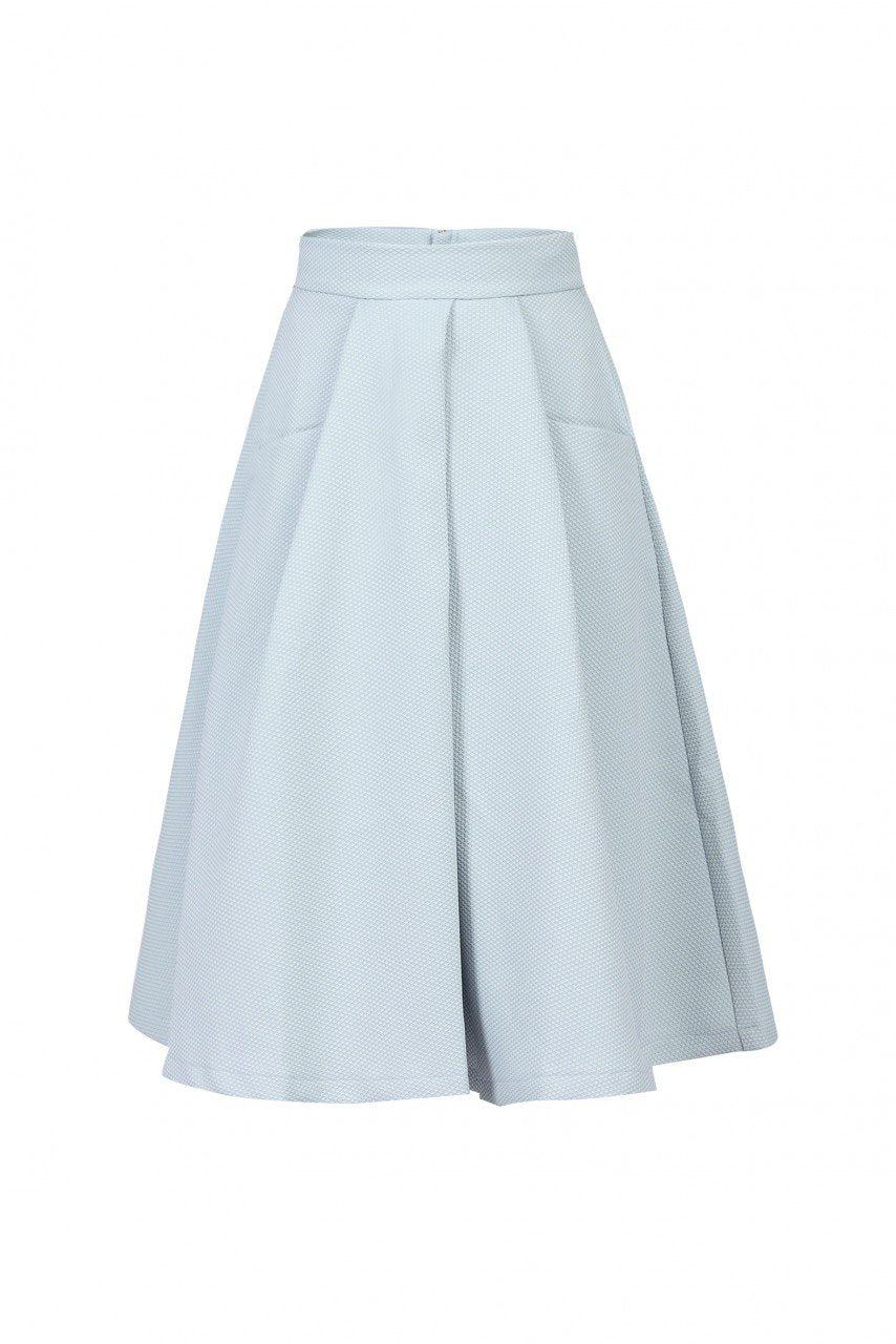 Jolie Moi Textured A-line Skirt, Grey