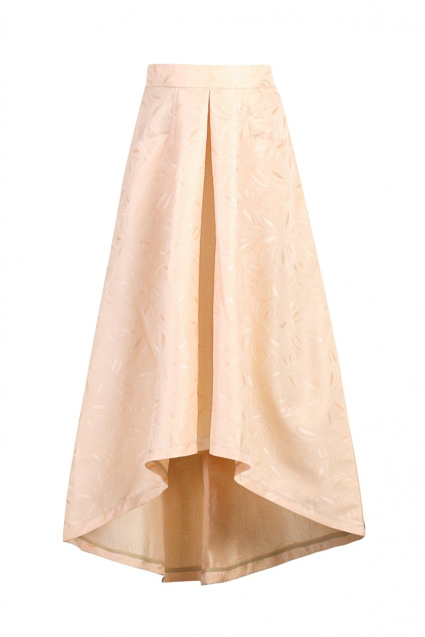 Jolie Moi High Low Hem Prom Skirt, NUDE