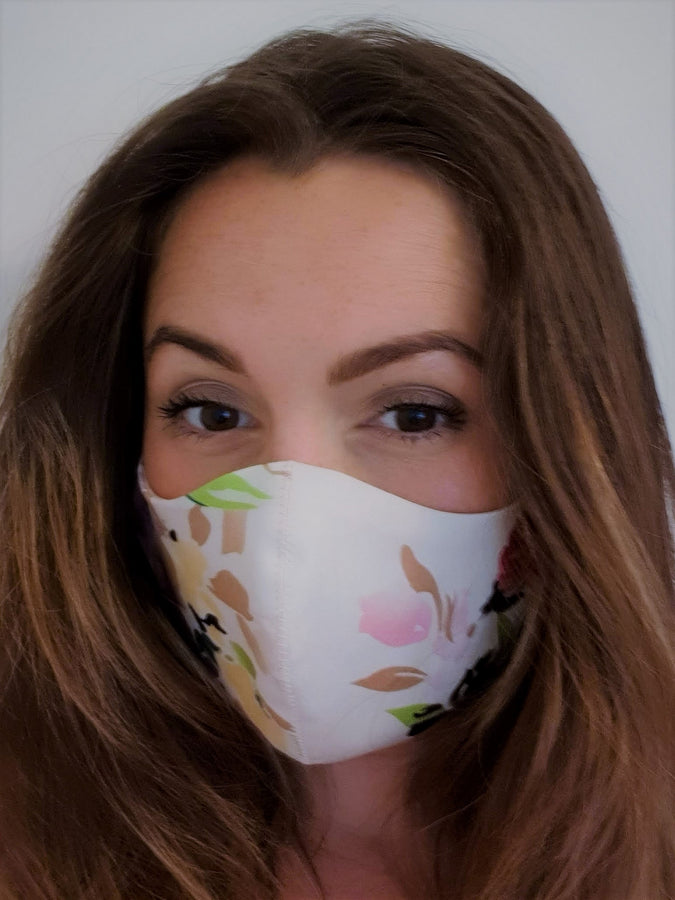 Floral Fabric Face Mask, Pink Floral