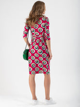 Load image into Gallery viewer, Printed Jersey Wrap Shift Dress - Jolie Moi Retail
