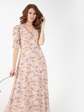 Load image into Gallery viewer, Puffy Sleeved Maxi Dress, Pink Floral