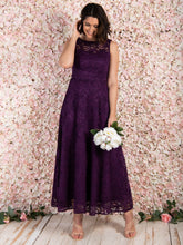 Load image into Gallery viewer, Lace Fit & Flare Maxi Bridesmaid Dress