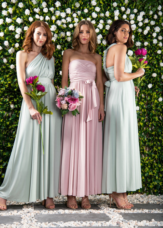 Twist & Tie Multiway Bridesmaid Maxi Dress with Bandeau