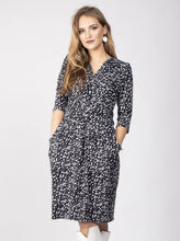 Load image into Gallery viewer, Jolie Moi Leopard Wrap Front Tulip Dress