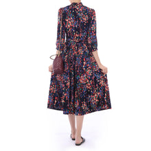 Load image into Gallery viewer, 3/4 Sleeve Turtle Neck Midi Dress
