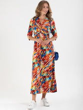 Load image into Gallery viewer, Rainbow Twist Front Maxi Dress
