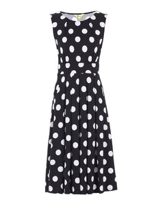 Spotty Printed Round Neck Jersey Dress