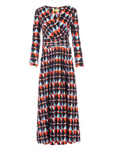 Load image into Gallery viewer, Full Sleeve Wrap Maxi Jersey Dress