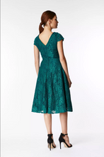 Load image into Gallery viewer, Cap Sleeve Lace Prom Bridesmaid Dress