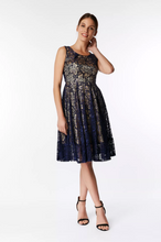 Load image into Gallery viewer, Contrast Lace Dress, Navy