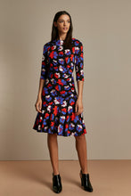 Load image into Gallery viewer, Roll Collar Ruched Midi Shift Dress