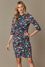 Load image into Gallery viewer, Jolie Moi Twist Body Con Dress, Royal Multi