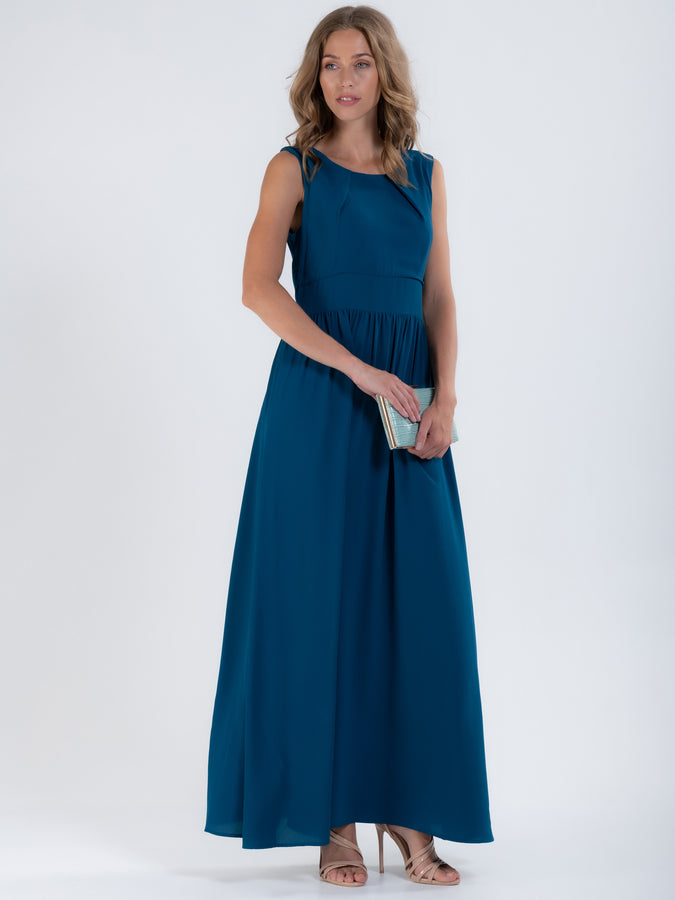 Crepe Chiffon Maxi Dress