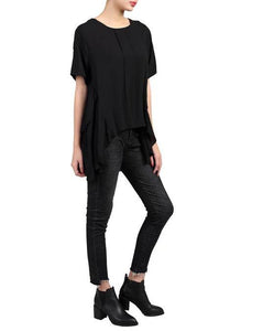 Side Ruched Comfy Blouse