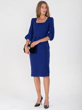 Load image into Gallery viewer, Bell Sleeve Boat Neck Pencil Dress