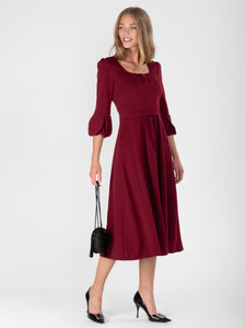 Bell Sleeve Midi Dress