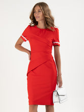 Load image into Gallery viewer, Lace Trimmed Fold Detail Dress - Jolie Moi Retail