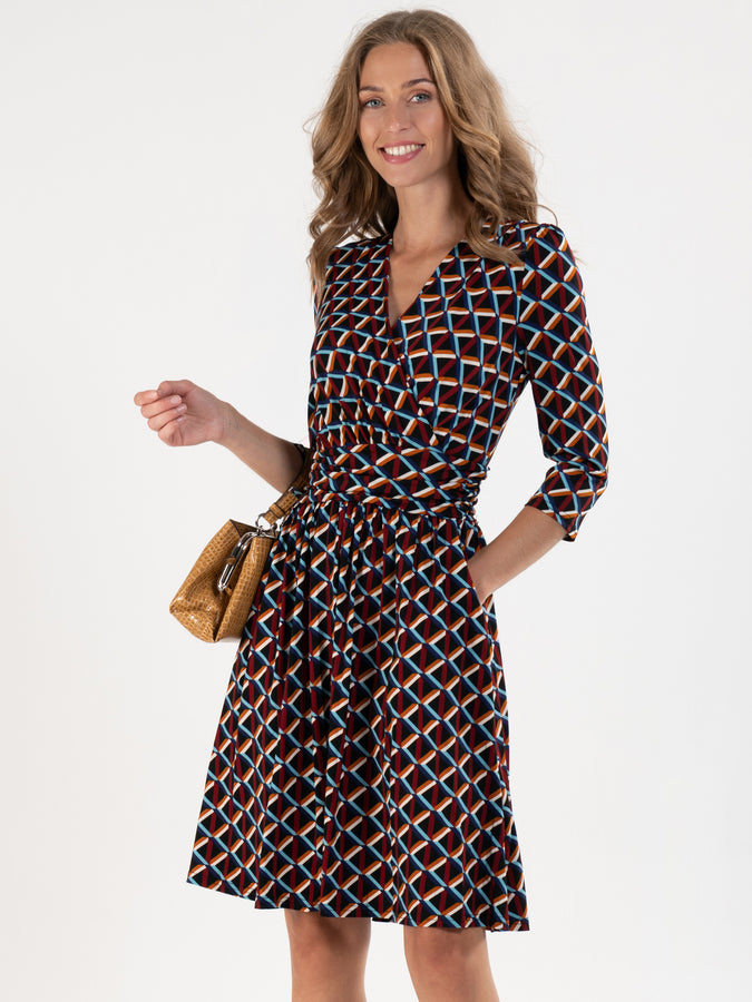 Crossover Front Sleeved Dress